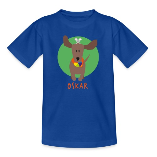 Dackel Oskar mit Maus Fridolin - Teenager T-Shirt