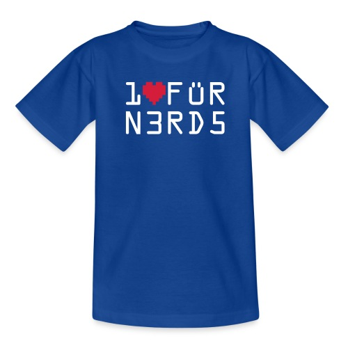 Ein Herz für Nerds - Teenager T-Shirt