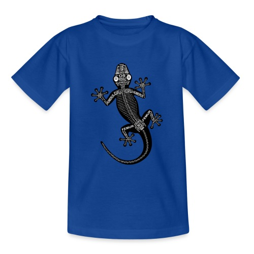 Gecko-Skelett - Teenager T-Shirt