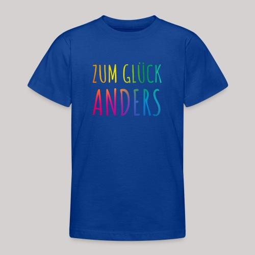 Zum Glück anders - Teenager T-Shirt