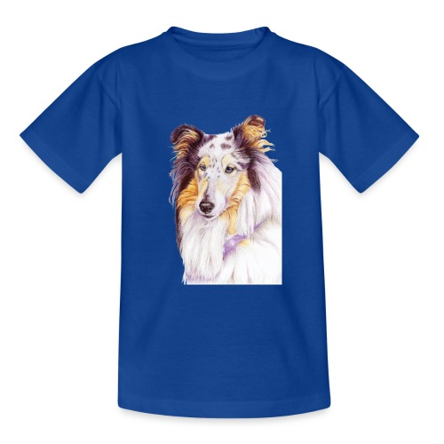 Collie bluemerle - Teenager-T-shirt
