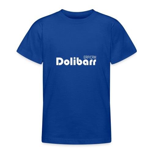 Dolibarr logo blanco - Camiseta adolescente
