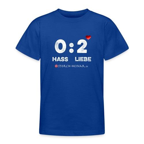 HASS null LIEBE zwei - Teenager T-Shirt