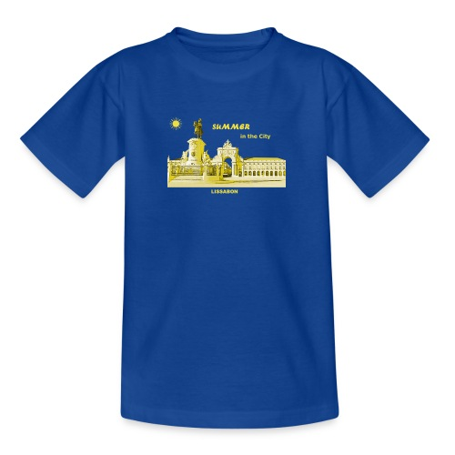 Sommer Lissabon Portugal Hauptstadt City Palast - Teenager T-Shirt