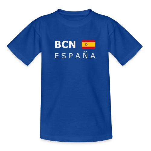 BCN ESPAÑA white-lettered 400 dpi - Teenage T-Shirt