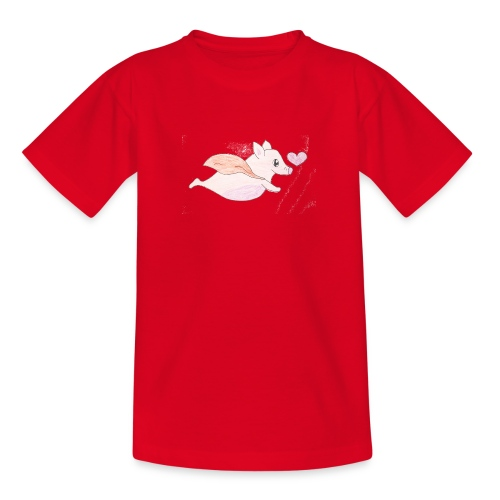 Kids for Kids: Flying Pigs - Teenager T-Shirt
