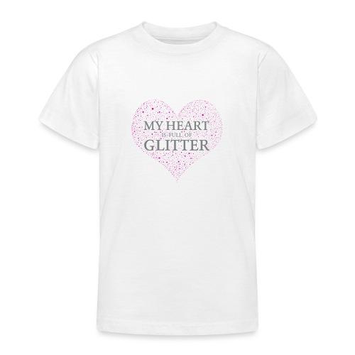 Glitzer Herz - Teenager T-Shirt