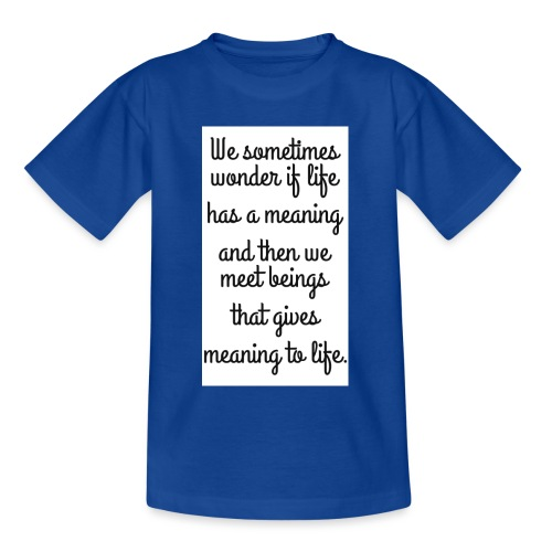 Phrase d'amour en anglais - T-shirt Ado