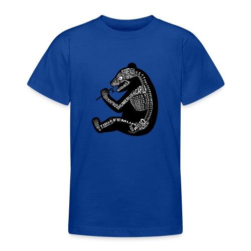Panda-skjelett - T-skjorte for tenåringer