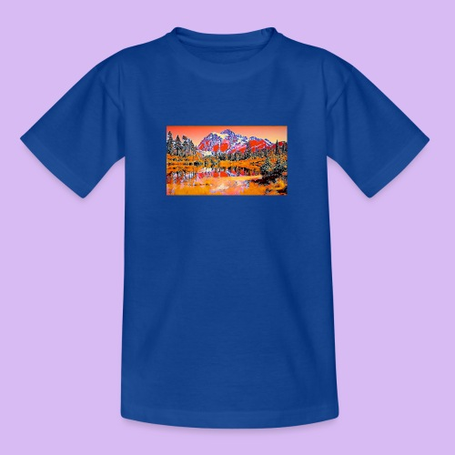 Montagne rosse punteggiate - Maglietta per ragazzi