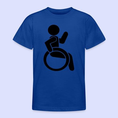 Zwaaiende rolstoel gebruiker 001 - Teenager T-shirt