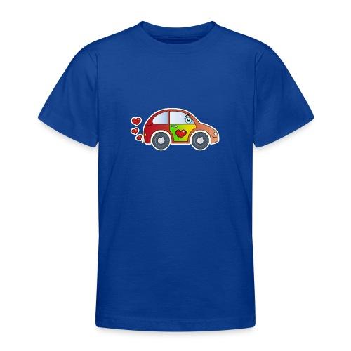 Kids Car Spielzeugauto Herzen bunt fröhlich Kinder - Teenage T-Shirt