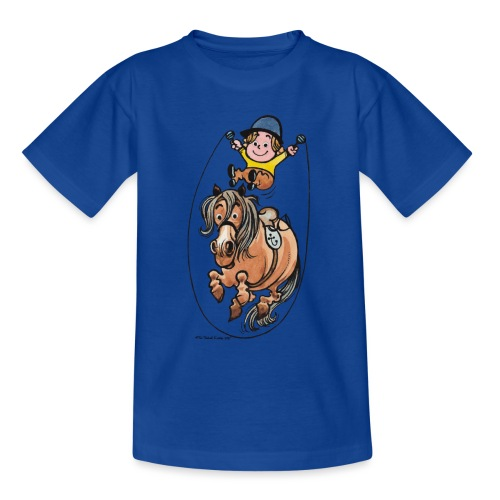 Thelwell Funny Rope Jumping Horse And Rider - Teenage T-Shirt