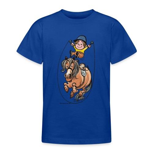 Thelwell Reiter Und Pony Machen Seilspringen - Teenager T-Shirt
