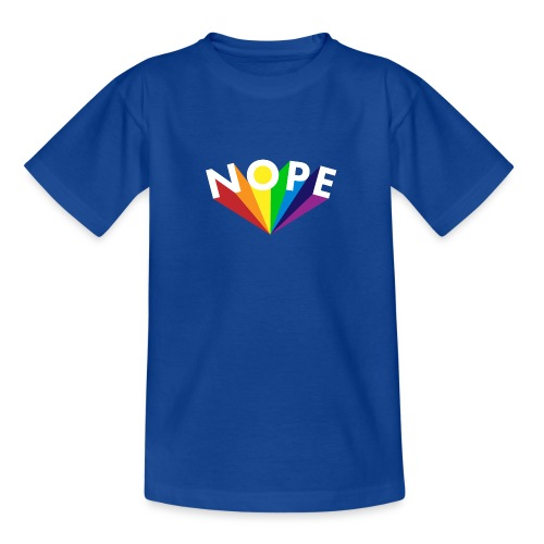Nope Nö Nein als Regenbogen - Teenager T-Shirt