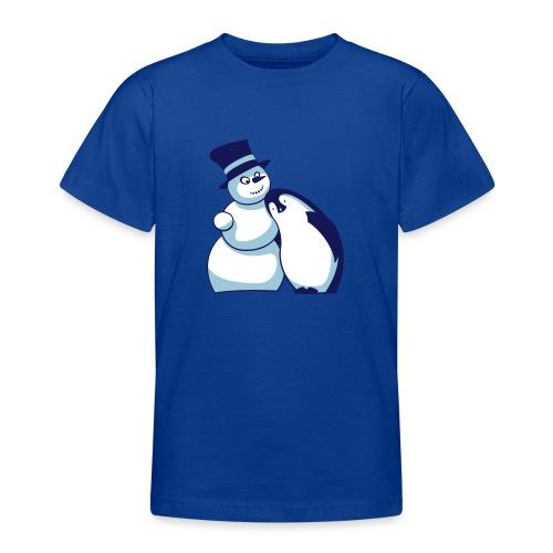 Schneemann und Pinguin - Teenager T-Shirt