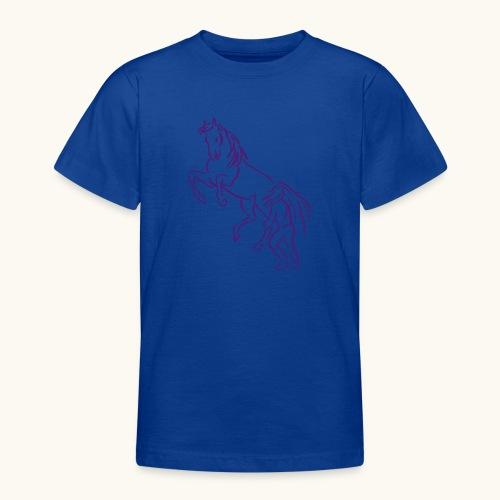 Rising Horse Floor Work cadeau amour fierté - T-shirt Ado