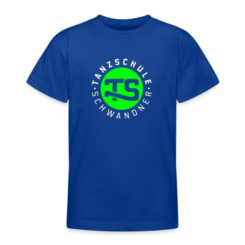 logo ts mit text 2farben - Teenager T-Shirt
