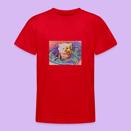 Gattino scintillante nella tasca dei jeans - Maglietta per ragazzi