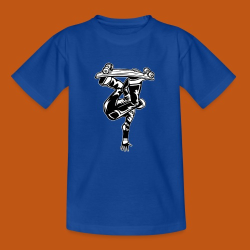 Skater / Skateboarder 03_schwarz weiß - Teenager T-Shirt