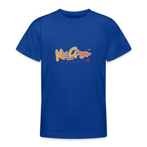patame Kiki und Ginger Logo mit Pferd - Teenager T-Shirt