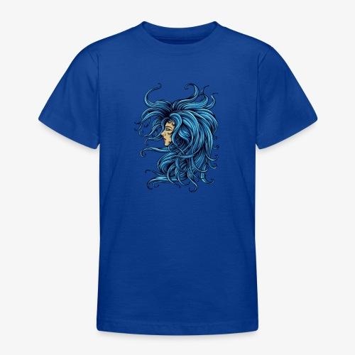 Dame dans le bleu - T-shirt Ado