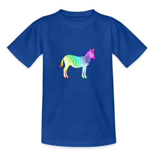 Zebra Einhorn Unicorn Regenbogen Zauber Magie - Teenage T-Shirt