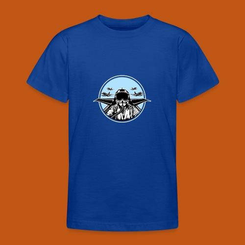 Jet Pilot / Kampfpilot 01_schwarz weiß - Teenager T-Shirt
