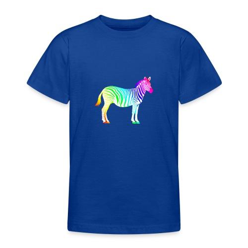 Zebra Afrika Equus Regenbogen Safari Sommer Magie - Teenage T-Shirt