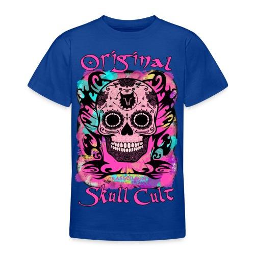 ORIGINAL SKULL CULT PINK - Teenager T-Shirt