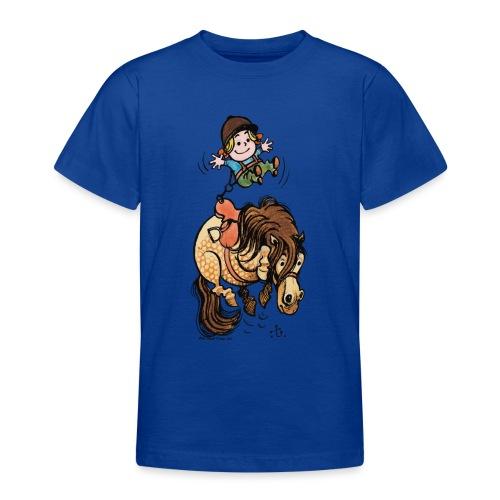 Thelwell Reiter Mit Gurt Und Buckelndes Pony - Teenager T-Shirt