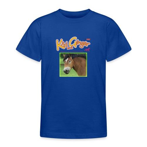patame Kiki und Ginger mit Golden Sky grün - Teenager T-Shirt