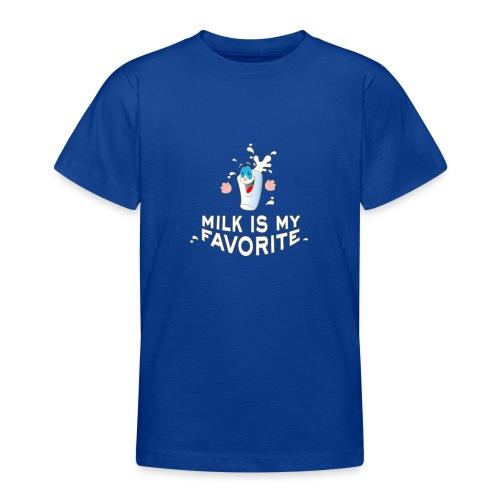Milk is my favorite Milch Kaffee Sahne Kühe Bauern - Teenage T-Shirt