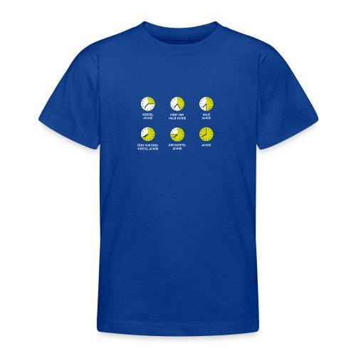 Uhrzeit auf schwäbisch - Teenager T-Shirt