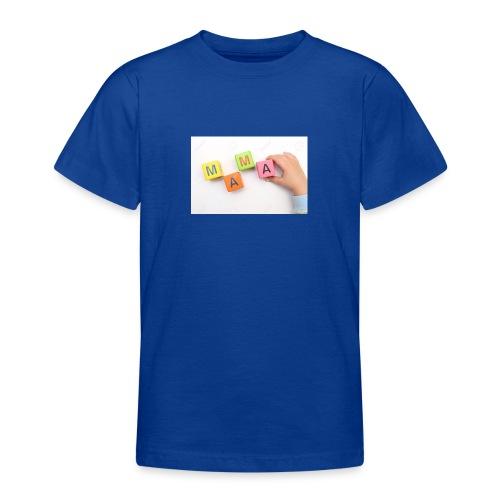18083457 Enfant construit avec des cubes de mot ma - T-shirt Ado