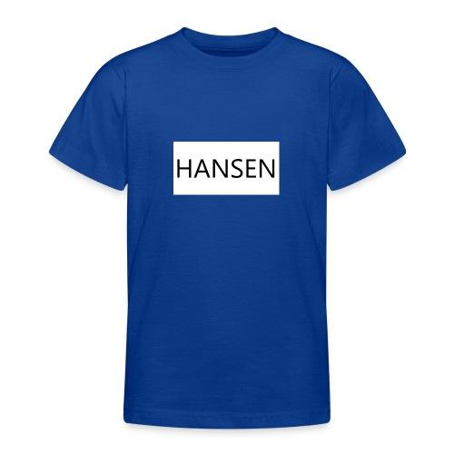 HANSENLOGO hvid - Teenager-T-shirt