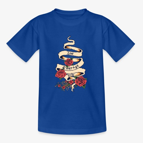Liebe und Mut - Teenager T-Shirt