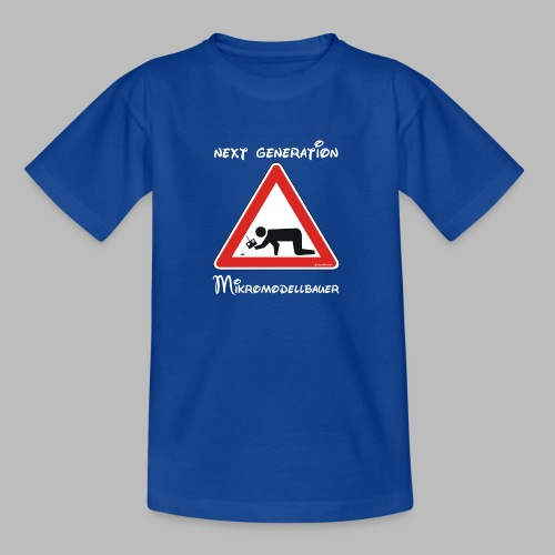 Warnschild Mikromodellbauer Next Generation - Teenager T-Shirt