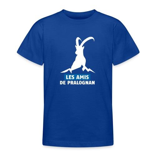 Logo Les Amis de Pralo grand blanc - T-shirt Ado