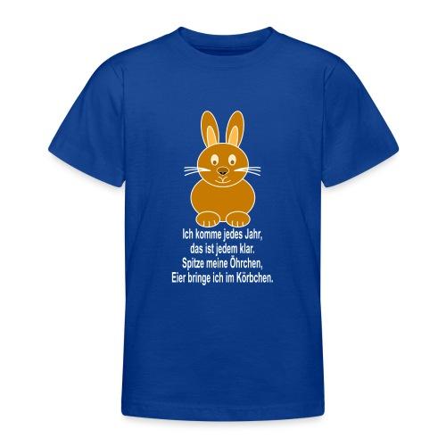 Hase mit weisser Schrift - Teenager T-Shirt