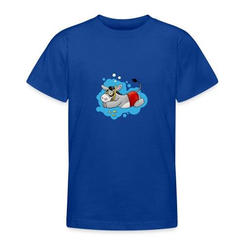 Esel - Kuschelesel geht schwimmen - Teenager T-Shirt