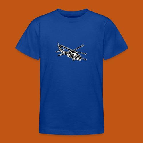 Hubschrauber / Helikopter 01_schwarz weiß - Teenager T-Shirt
