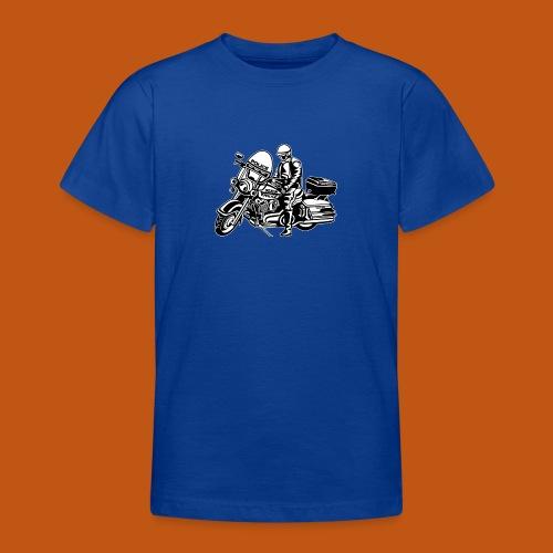 Motorradpolizei / Motorcycle Police 1_schwarz weiß - Teenager T-Shirt