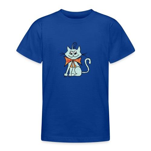 NIedliche blaue Katze - Teenager T-Shirt