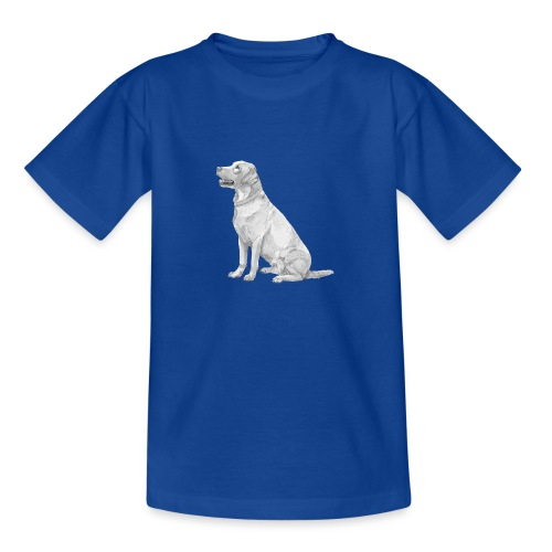 labrador Retriever Yellow sit - Teenager-T-shirt