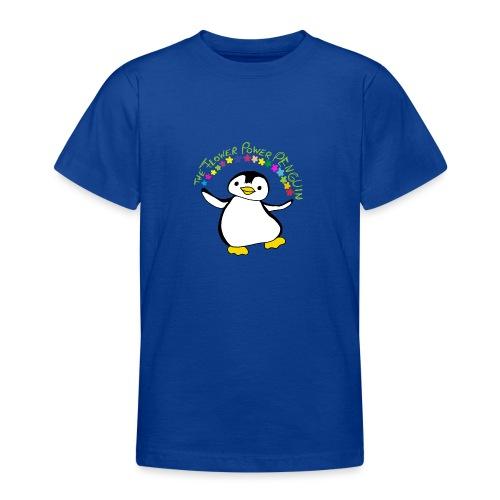 Pinguin Flower Power - Teenager T-Shirt