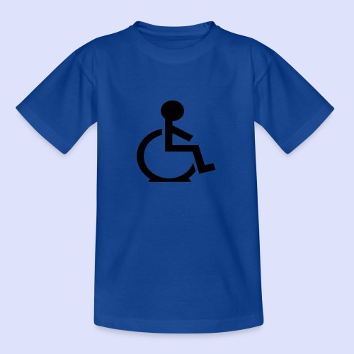 Rolstoel gebruiker met platte band - Teenager T-shirt