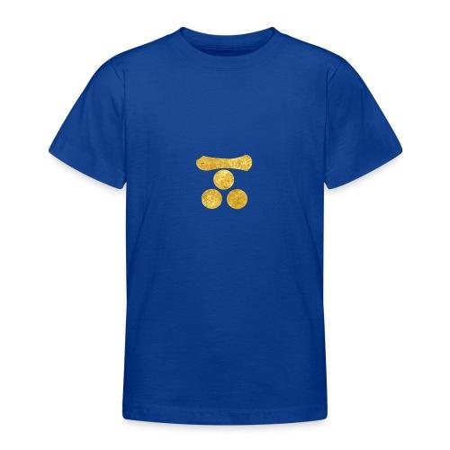Mori Mon Japanese samurai clan in gold - Teenage T-Shirt