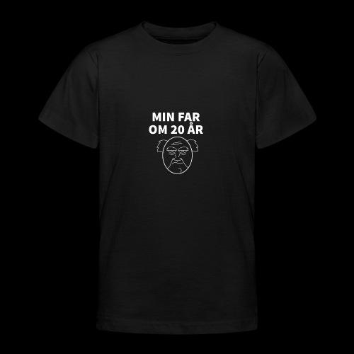 Min Far Om 20 År (Moto) - Teenager-T-shirt