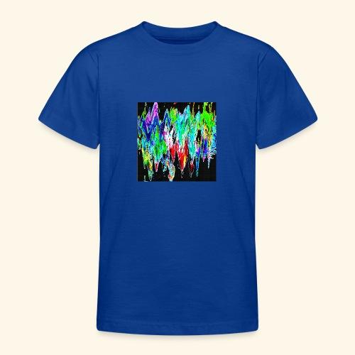 Colori ondulati base nero - Maglietta per ragazzi